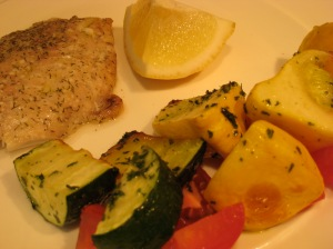 Easiest Ever Fish with  Veggies