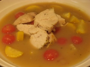 Farm Box Summer Soup With Chicken